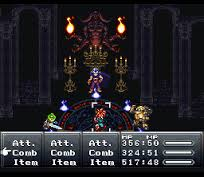 Example of the battle system from Chrono Trigger